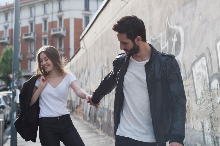 Young Couple Having Fun In The City